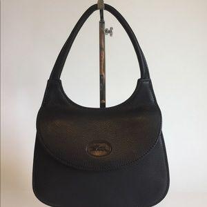 Longchamp Paris 1948 Black Leather Mini Tote FGJ